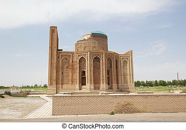 Turkmenistan - Turabek Khanum Mausoleum view from the south,...