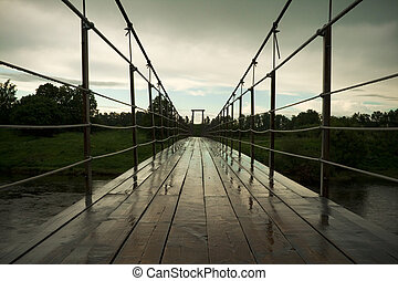 suspension bridge over Moskva river - suspension bridge...