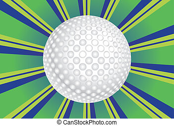 Golf Ball Background - Colorful background with rays and...