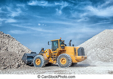 Excavator loader with backhoe works - Wheel loader excavator...