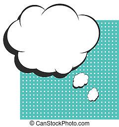 pop art text bubble, illustration in vector format