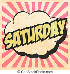 october - saturday pop art, illustration in vector format