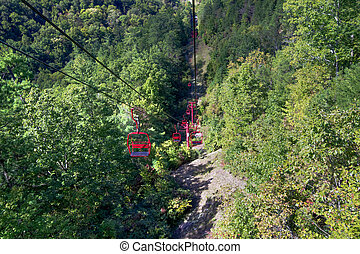 Skylift at Natural Bridge Park - The Skylift located at...
