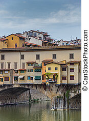 Colorful Ponte Vecchio in the old center of Florence