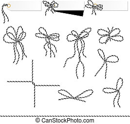 Collection of ribbons ahd bows in twine style - Collection...