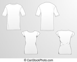 T-Shirt templates - T-shirt template/mockup for designs in...