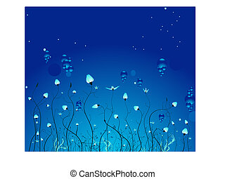 Underwater Plants - Mysterious underwater world with marine...