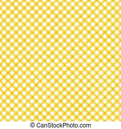 Bright Yellow Gingham Pattern Repeat Background - Bright...