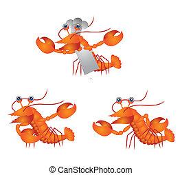 shrimps Cartoon Illustration