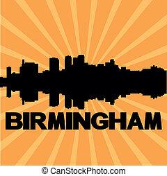 Birmingham skyline sunburst - Birmingham Alabama skyline...