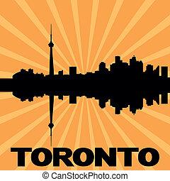 Toronto skyline sunburst