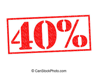 40% Rubber Stamp over a white background.