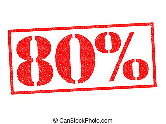 80% Rubber Stamp over a white background.
