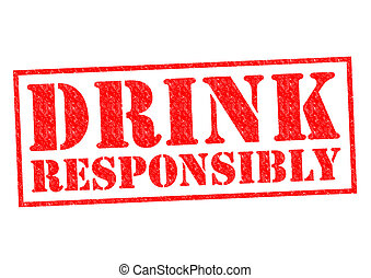 DRINK RESPONSIBLY red Rubber stamp over a white background.