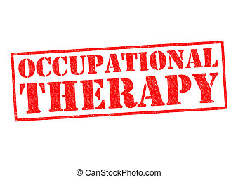 OCCUPATIONAL THERAPY red Rubber Stamp over a white...