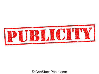 PUBLICITY red Rubber Stamp over a white background.