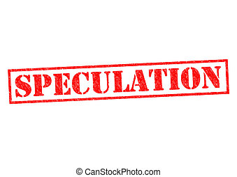 SPECULATION red Rubber Stamp over a white background