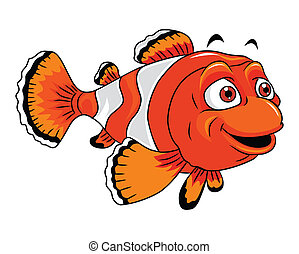 Clown Fish Cartoon Illustration