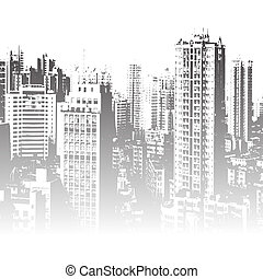 Panorama of the city cartoon illust