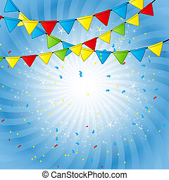 Party Flag Background Vector Illustration - Colorful Party...