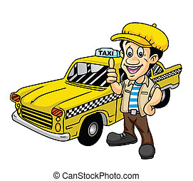 táxi, motorista