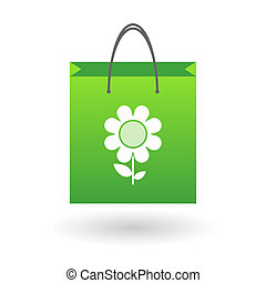 Shopping bag with a flower
