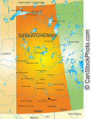 Saskatchewan province map - Vector color map of Saskatchewan...