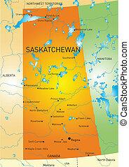 Saskatchewan province map - Vector color map of Saskatchewan...