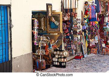 Souvenir Shop - Colourful goods for sale in a souvenir shop...
