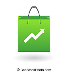Shopping bag with a graph