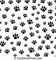 vector dog foot prints background pattern