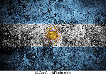 grunge flag of Argentina with capital in Buenos Aires