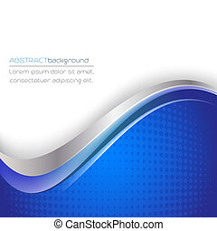 Abstract vector background in blue and white