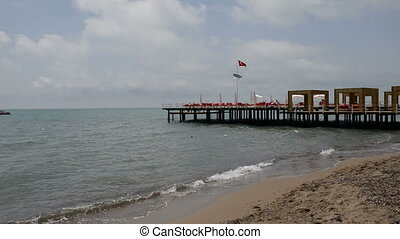 The pier near beach at the hotel - The pier near beach at...