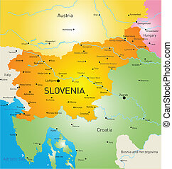 Slovenia - Vector color map of Slovenia