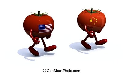 Chinese - American tomato that run - Chinese and American...