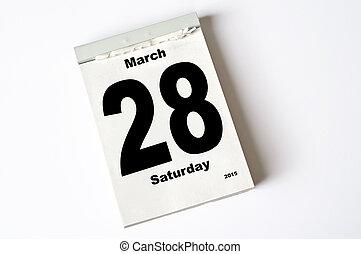 28. March 2015 - calendar sheet 28. March 2015
