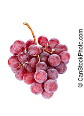 Red grapes bunch - A red grapes bunch on the white...