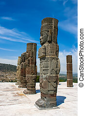 Toltec sculptures - The ancient extinct culture of South...