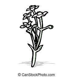 wild flowers cartoon