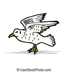 seagull illustration