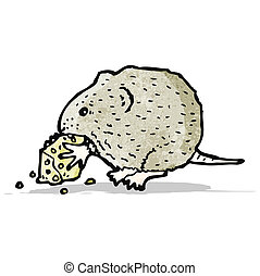mouse and cheese illustration