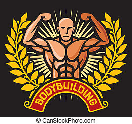bodybuilding badge - bodybuilding badge, bodybuilding...