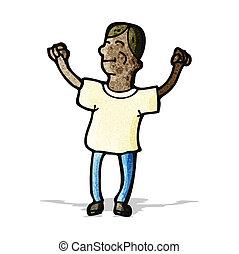 cartoon happy man