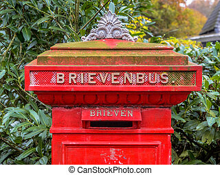 Historic Dutch Letter Box or Brievenbus