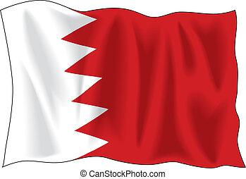 Bahrain flag - Waving flag of Bahrain