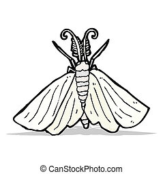 cartoon moth