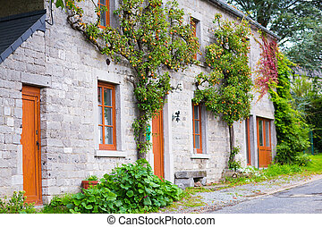 Country house view in France - View of a country house at a...
