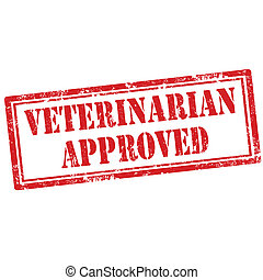 Veterinarian Approved-stamp - Grunge rubber stamp with text...