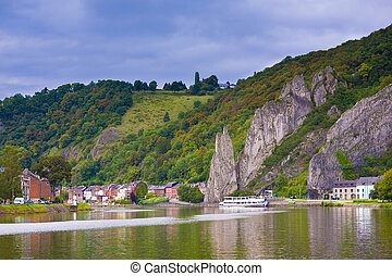 Dinant city, Belgium - View of the Dinant city, Belgium